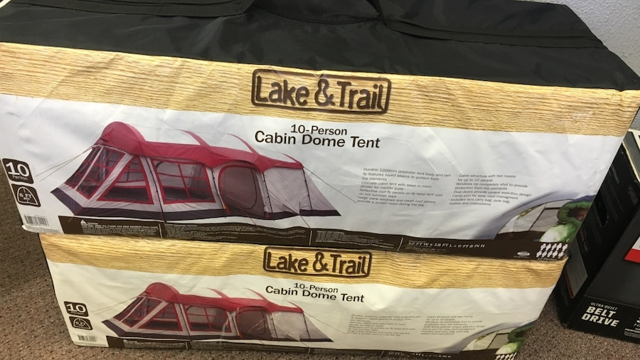 Used red and gray lake u0026 trail 10-person cabin dome tent in Farmington Hills & Used red and gray lake u0026 trail 10-person cabin dome tent in ...