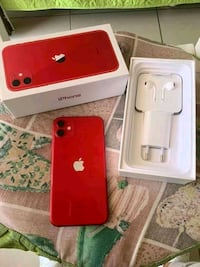 Red iPhone 11 with box Mississauga, N0L 1J0