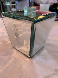 Glass Mirrored Canister Jar with Black Velvet Lined Inside. Fishers, 46037