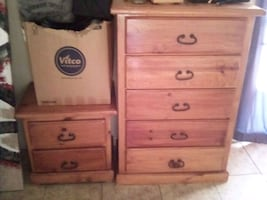 2 piece wooden drawers