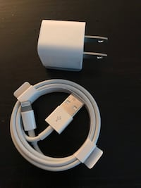 Authentic Apple charging block and cord Langley, V2Y 0B4