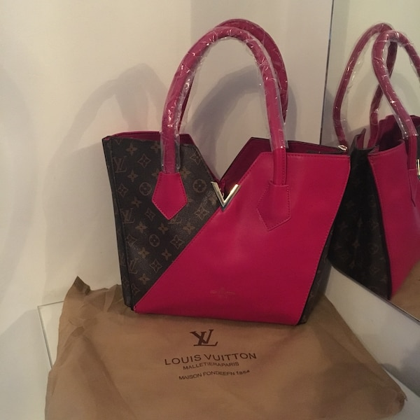 Used red and black louis vuitton leather handbag for sale in Birmingham -  letgo ba5ac1912514b
