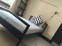 Twin mattress and frame for sale. In excellent condition