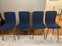 4 blue and gold chairs for sale Washington, 20037