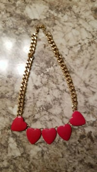 red and silver beaded necklace San Antonio, 78251