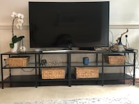 2 Black metal industrial style tv stands ONLY! Alexandria, 22312