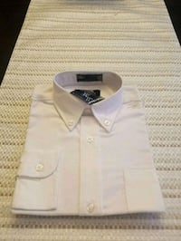 BRAND NEW: Size 7 White  Buttoned Shirt 52 km
