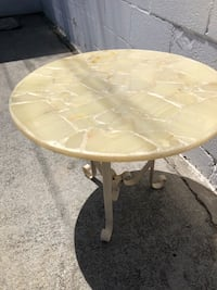 Opalescent side table