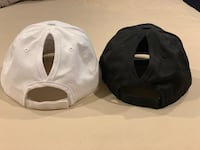 Sun hats with pony tail hole