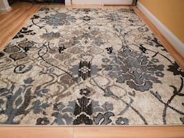New Blue area rug 5x8 floral rugs