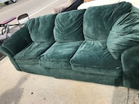 green suede sofa!  New Orleans, 70114