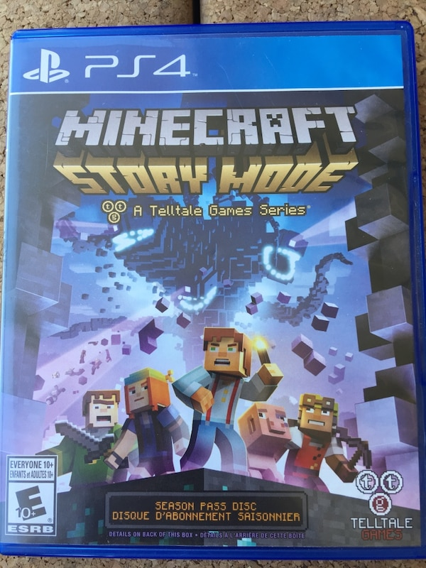 Minecraft Story Mode PS4 game case