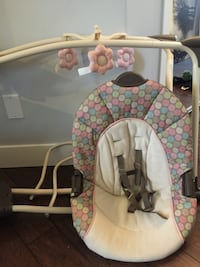 Baby's white and gray portable swing Surrey, V3S 5H1