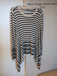 white and black stripe long sleeve dress Edmonton, T6K