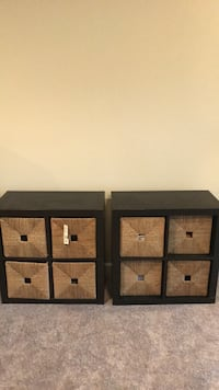 two black wooden 3-drawer chests Ashburn, 20147