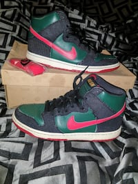 Nike Resn Leather and Jean High Top Shoes
