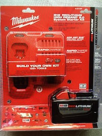 Milwaukee New Kit Battery M18 9.0 And Rapid Charge M18-M12 Kit Nuevo : Batería 9.0- Rapid Charge Los Angeles, 91324