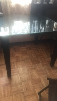rectangular brown wooden table with chairs dining set Toronto, M3C