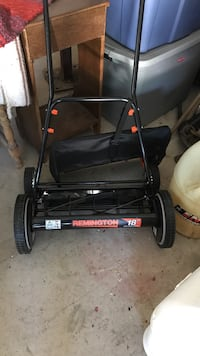 "black Remington 18"" reel mower 1338 mi"