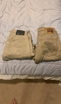 Pants Levi's 32W x 34L. $5 for both Baltimore, 21236