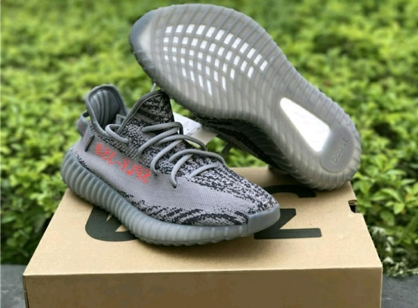 f7f3198c4ae0a Used pair of gray Adidas Yeezy Boost 350 V2 with box for sale in Marietta -  letgo