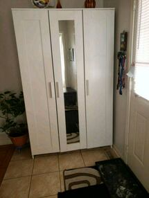 White wardrobe with mirror