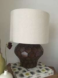 white and brown table lamp Toronto, M6H 2G9