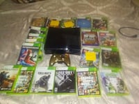 Xbox 360 S with controller and game case lot Buffalo, 14207