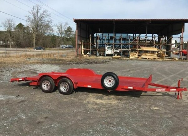 Used New 7x20 Car Hauler Trailer Removable Fender Winch Plate