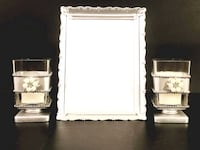 Silver Votive Candle Holder Set with Picture Frame Washington, 20011
