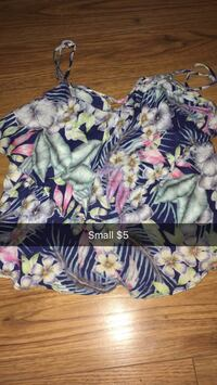 women's size small green, yellow, pink, and blue floral spaghetti strap shirt Mount Pearl, A1N