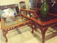 brown wooden framed glass top coffee table El Paso, 79924