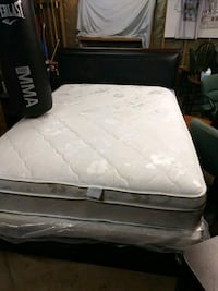 white and black floral mattress