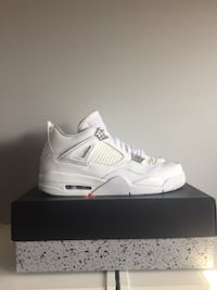 Size 10 air Jordan 4 pure money Sterling, 20165