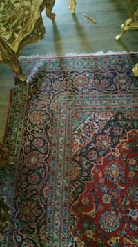 green, red, and white floral area rug Montréal, H3R 2E6