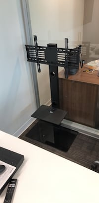 Black glass tv stand with mount Vancouver, V5Z 3X7