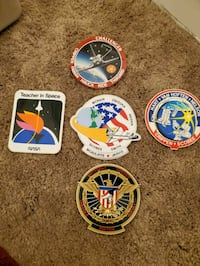 Space shuttle challenger mission patch stickers.