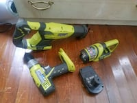 two green and black cordless power tools Dallas, 75230