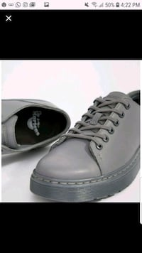 Dr. Martens 6-eye street shoes in gray, Size 12  Owings Mills