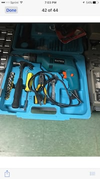 Blue and black matrix corded hand drill set in case Gainesville, 20155