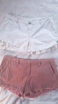 Pink striped American Eagle stretchy shorts