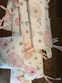 Baby girl water color floral crib bedding Charlotte, 28269