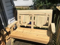 Hand crafted wooden Ohio bench Westerville, 43081