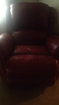 brown leather sofa chair with ottoman Spring Hill, 34609