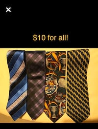 Like New Silk Ties - $10 for all four ties