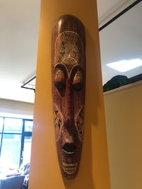 Wooden decorative mask