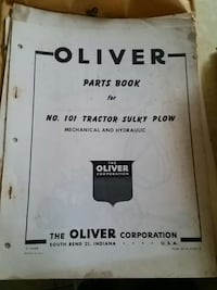 oliver parts book for no 101 tractor sulky plow bo 369 mi