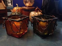 Fall votive candle holder's with candles