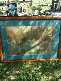boat on body of water surrounded with trees painting Reedley, 93654