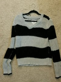 gray and black stripe knitted sweater Middletown, 10940